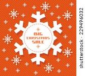 vector snowflake tag  ... | Shutterstock .eps vector #229496032