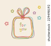 vector gift box icon. doodle... | Shutterstock .eps vector #229498192