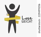 lose weight graphic design  ... | Shutterstock .eps vector #229499356