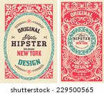 old cards with floral details.... | Shutterstock .eps vector #229500565