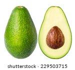 Avocado Isolated On A White...