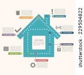 house infographics design... | Shutterstock .eps vector #229504822