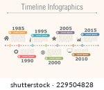 timeline infographics design... | Shutterstock .eps vector #229504828