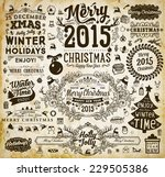christmas decoration collection ... | Shutterstock .eps vector #229505386