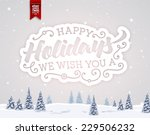 vintage christmas greeting card ... | Shutterstock .eps vector #229506232