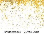 golden glitter falling isolated ... | Shutterstock . vector #229512085