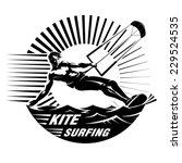 Kite Surfing. Vector...