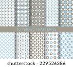 10 cute blue seamless patterns  ...   Shutterstock .eps vector #229526386