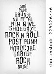 rock music styles tag cloud ... | Shutterstock .eps vector #229526776