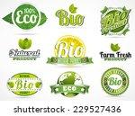eco bio natural logos | Shutterstock .eps vector #229527436
