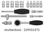 realistic vector ratchet and... | Shutterstock .eps vector #229531372