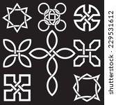 celtic knots in vector editable ... | Shutterstock .eps vector #229531612