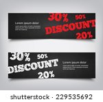 set of abstract discount sales... | Shutterstock .eps vector #229535692