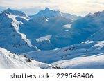 Snowy Blue Caucasian Mountains...