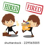 fired and hired   Shutterstock .eps vector #229565005