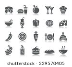 food and drinks icons | Shutterstock .eps vector #229570405