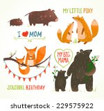 Cartoon Forest Animals Parent...