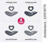 life insurance sign. hand holds ... | Shutterstock .eps vector #229578775