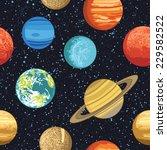 seamless pattern wth solar... | Shutterstock .eps vector #229582522