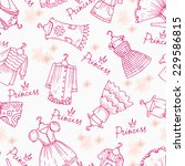 vector seamless pattern with... | Shutterstock .eps vector #229586815