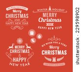 christmas decoration set of... | Shutterstock .eps vector #229598902