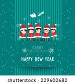 christmas and happy new year... | Shutterstock .eps vector #229602682
