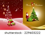 christmas  gift box with... | Shutterstock . vector #229603222