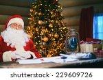 santa claus sleeping on... | Shutterstock . vector #229609726