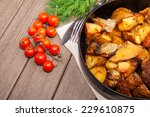 grilled cutlet with rustic... | Shutterstock . vector #229610875