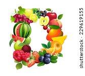 illustration letter d composed ...   Shutterstock . vector #229619155