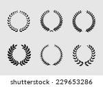 heraldic ornament on white... | Shutterstock .eps vector #229653286