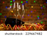 two champagne glasses ready to... | Shutterstock . vector #229667482