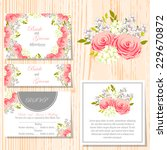 wedding invitation cards with... | Shutterstock .eps vector #229670872