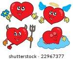 cartoon hearts collection  ... | Shutterstock .eps vector #22967377
