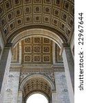 the interior of arch of triumph ... | Shutterstock . vector #22967644