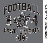 football typography  t shirt... | Shutterstock .eps vector #229680196