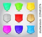 shield label set. vector...   Shutterstock .eps vector #229681576