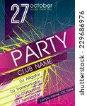 party flyer. nightclub flyer. | Shutterstock .eps vector #229686976