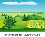 summer landscape background | Shutterstock .eps vector #229689166