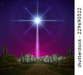 star of bethlehem. eps 10 ... | Shutterstock .eps vector #229690522