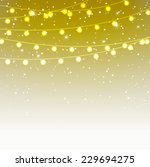 christmas lights background ... | Shutterstock .eps vector #229694275