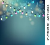 christmas lights background....   Shutterstock .eps vector #229698586