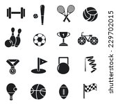 concept of set lifestyle sports ... | Shutterstock .eps vector #229702015