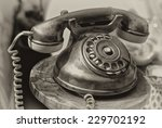 old fashioned phone isolated on ... | Shutterstock . vector #229702192