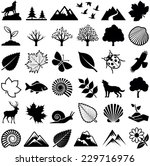 nature icon collection   vector ... | Shutterstock .eps vector #229716976