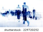 business people walking on a... | Shutterstock . vector #229720252
