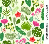 seamless pattern with tropical... | Shutterstock .eps vector #229722325