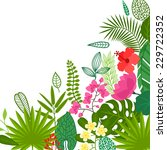 background of stylized tropical ... | Shutterstock .eps vector #229722352