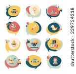 baby bubble speech banner...   Shutterstock .eps vector #229724218