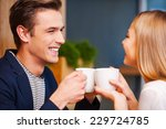 hot coffee and hot love.... | Shutterstock . vector #229724785